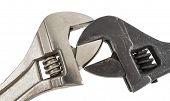 stock photo of adjustable-spanner  - Adjustable wrench work spanner hand tool equipment - JPG