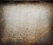stock photo of stelles  - Scratched rusty metal as background in closeup - JPG