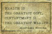 foto of buddha  - Health is the greatest gift  - JPG