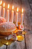 picture of dreidel  - Jewish holiday hannukah symbols  - JPG
