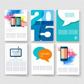 foto of booklet design  - Vector brochure design templates collection - JPG