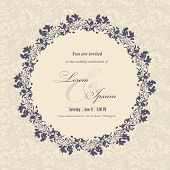 picture of invitation  - Wedding invitation cards with floral elements - JPG