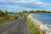 foto of galway  - A view of the causeway from Inchiquin Island - JPG