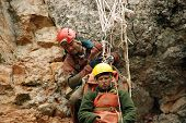 picture of accident victim  - Cavers work out rescue operations in caves - JPG
