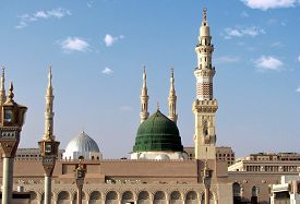 stock photo of prophets  - Masjid Al Nabawi or Nabawi Mosque  - JPG