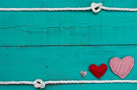stock photo of candy cane border  - Red heart  - JPG