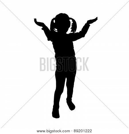 Girl Vector Silhouette