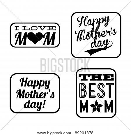 Happy Mothers day card Vector illustration