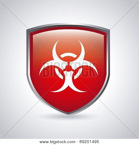 danger zone symbol over  background vector illustration