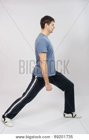 The Young Man Does Exercise