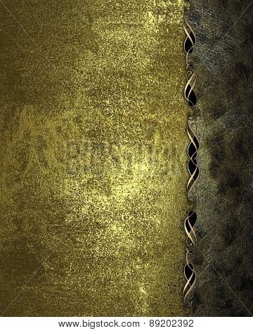 Element For Design. Template For Design. Gold Grunge Texture With Rust