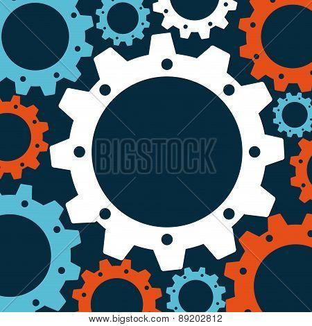 gears design over blue background vector illustration