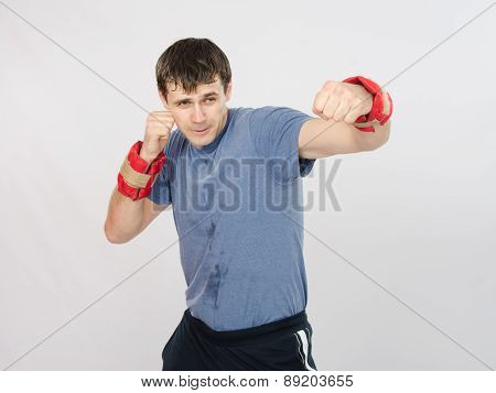 Boxer Has A Left Hand With The Weighting Agent