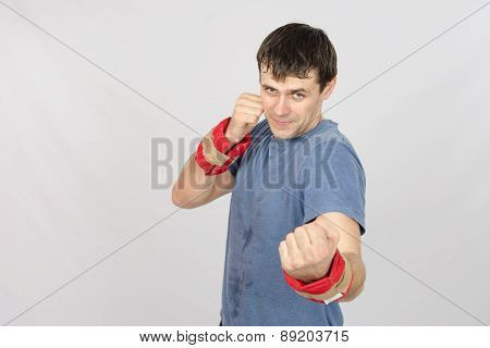 Athletes Perform Punches With The Weighting