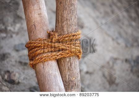 Traditional Round Lashing For Assembly Of Simple Structures