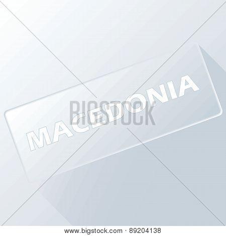 Macedonia unique button