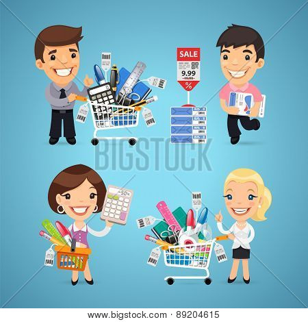 Buyers in Stationery Shop
