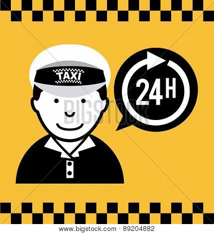 taxi design over yellow backgroundvector illustration