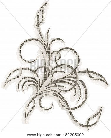 Decorative Branch With Shade. (eps10)