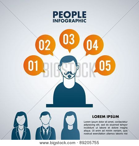 People design over gray background vector illustration
