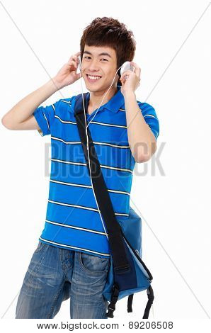 Young asian man with headset