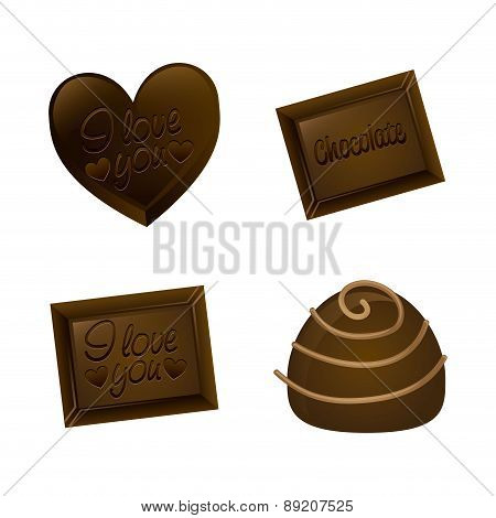 chocolate design over  background vector illustration