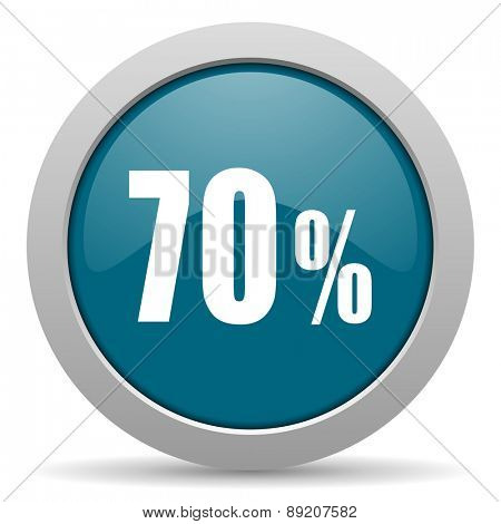 70 percent blue glossy web icon