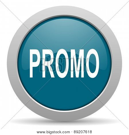 promo blue glossy web icon
