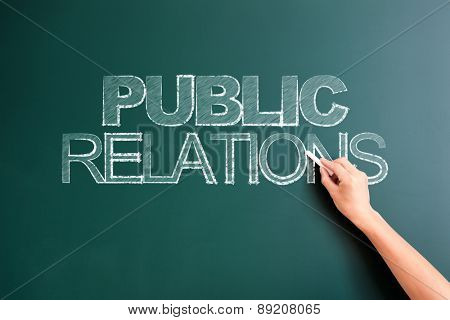 writing public relations on blackboard