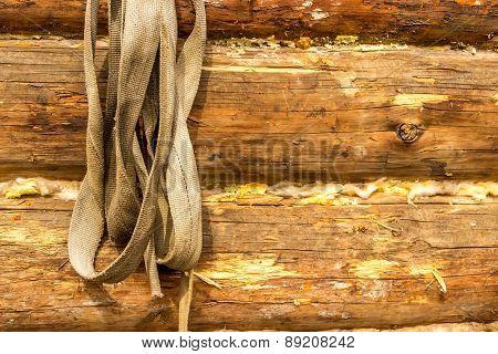 Log Wall Garden Tools