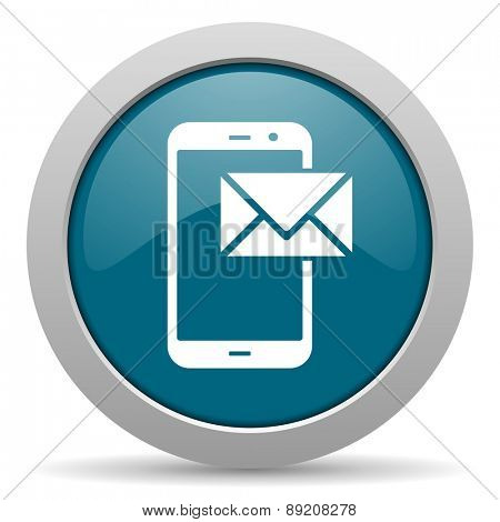 mail blue glossy web icon