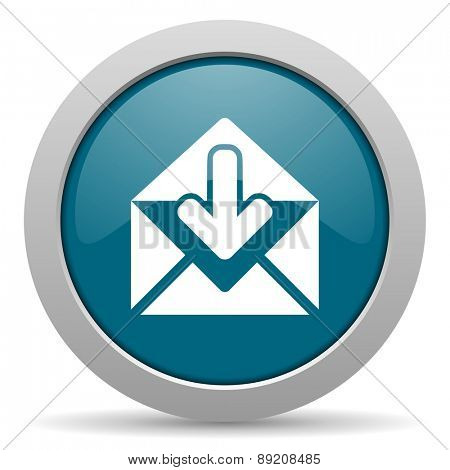 email blue glossy web icon