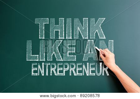 writing think like an entrepreneur on blackboard
