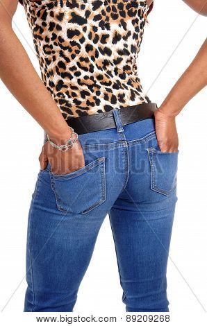 Closeup Of Woman's Butt.