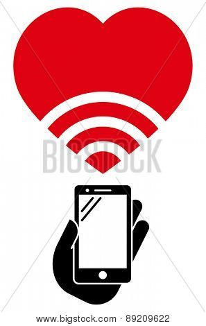 Love WiFi vector icon