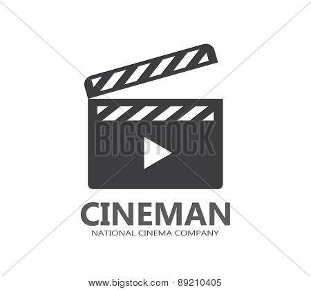 Vector cinema logo or icon