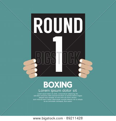 Hand Show Boxing Ring Board.