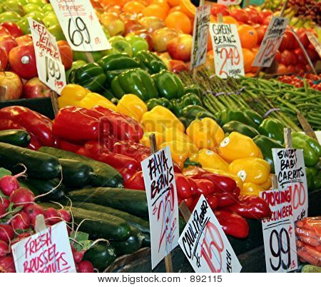 Colorful Produce Market