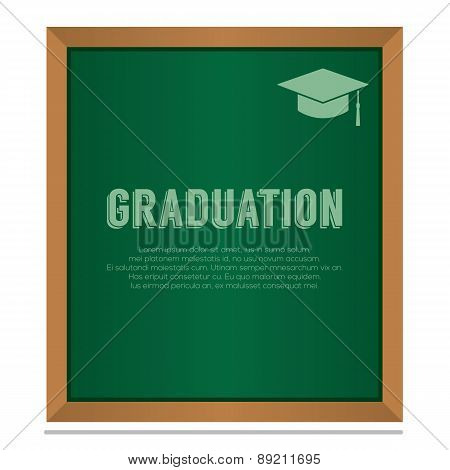 Graduation On Board Education Concept.