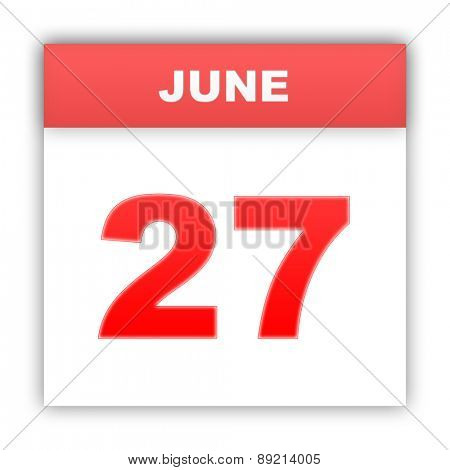 June 27. Day on the calendar. 3d