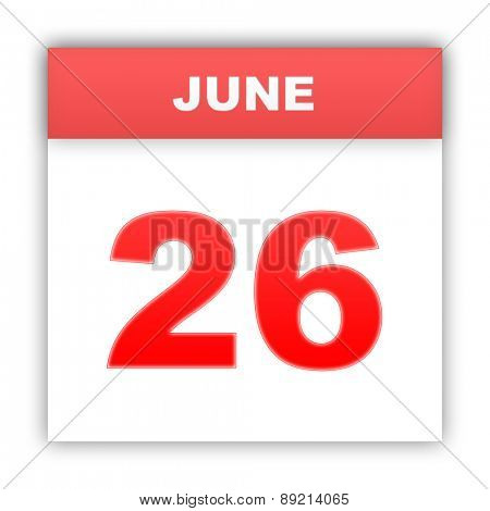 June 26. Day on the calendar. 3d