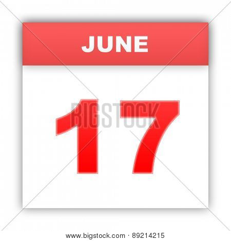 June 17. Day on the calendar. 3d