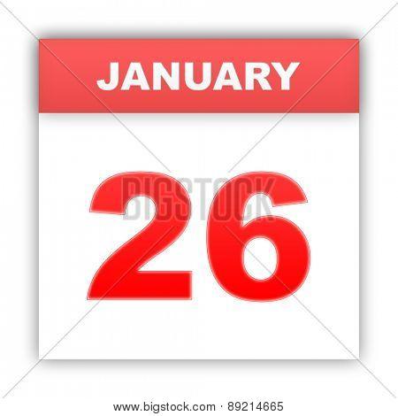 January 26. Day on the calendar. 3d