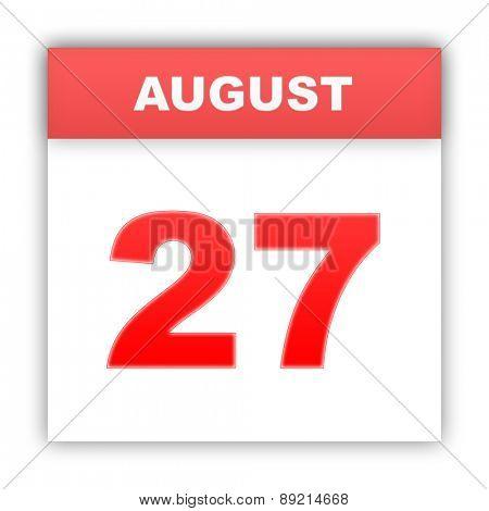 August 27. Day on the calendar. 3d