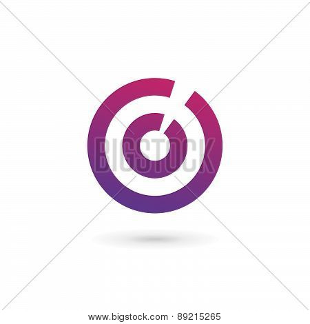 Letter O Number 0 Target Logo Icon Design Template Elements