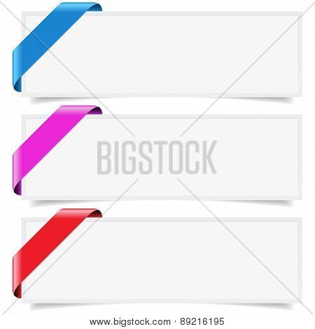 Corner Ribbon Web Banner Set