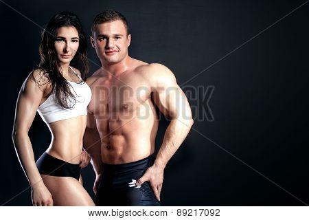 Athletic Couple Posing.