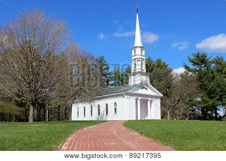 White New England Chapel