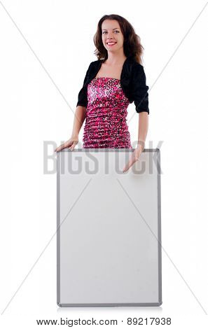 Female model isolated on white