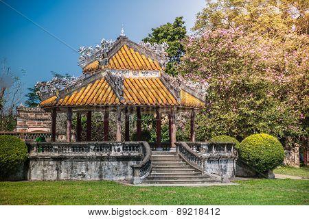 pavilion in parks of citadel, Hue